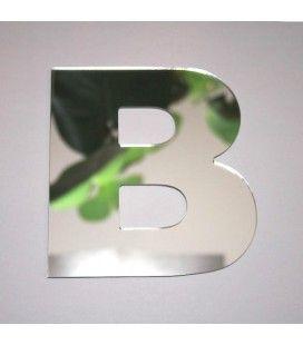 Miroir lettre Arial B adhésif