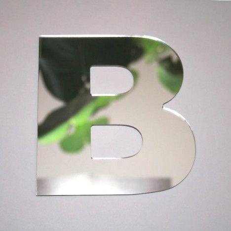 Miroir lettre Arial B adhésif -