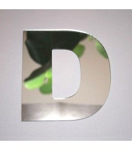 Miroir lettre Arial D adhésif -