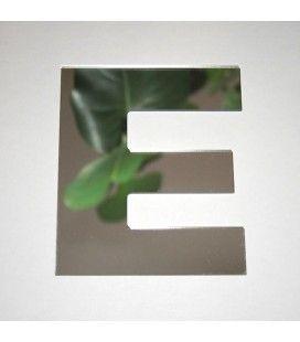 Miroir lettre Arial E adhésif -
