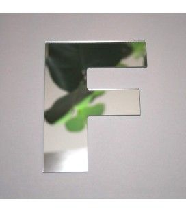Miroir lettre Arial F adhésif