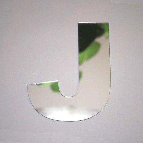 Miroir lettre Arial J adhésif -