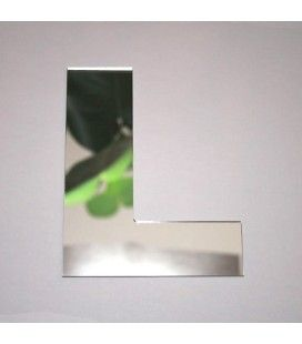 Miroir lettre Arial L adhésif