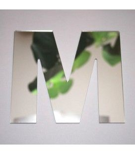 Miroir lettre Arial M adhésif