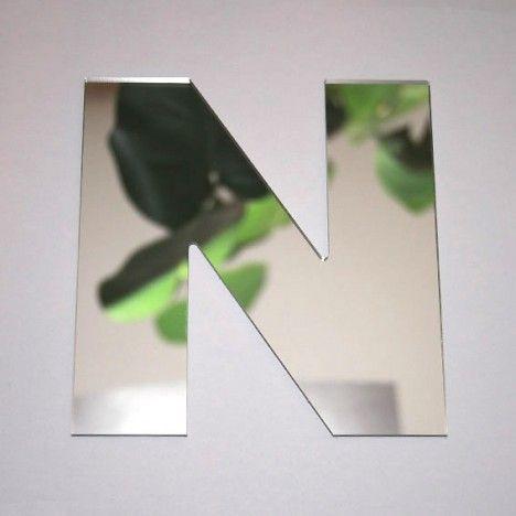 Miroir lettre Arial N adhésif -