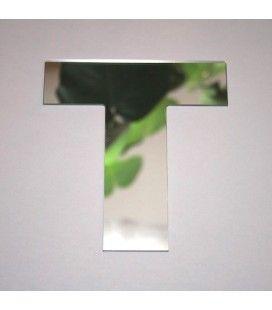 Miroir lettre Arial T adhésif -