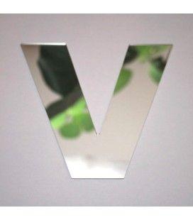 Miroir lettre Arial V adhésif -