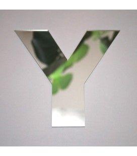 Miroir lettre Arial Y adhésif -