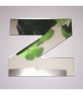 Miroir lettre Arial Z adhésif