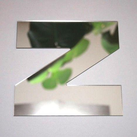 Miroir lettre Arial Z adhésif -