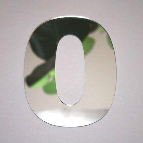 Miroir chiffre design arial 0 decome store for Miroir store