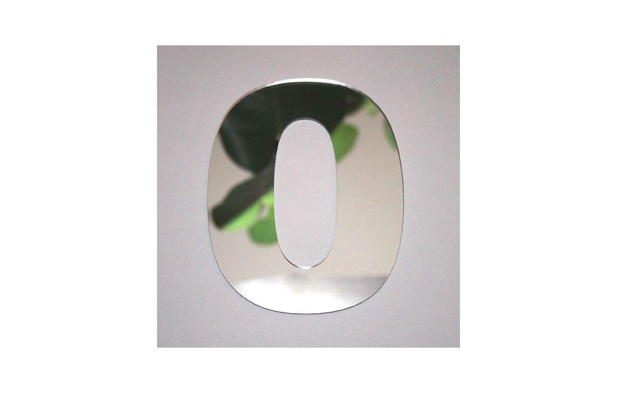 Miroir chiffre design arial 0 decome store for Decoration miroir design