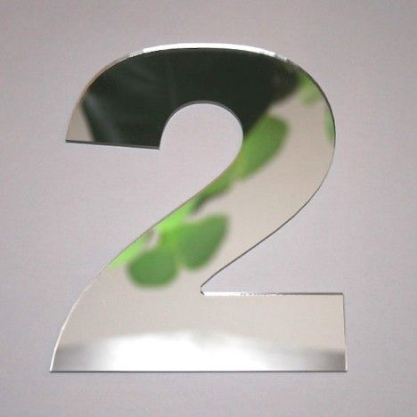 Miroir chiffre Arial 2 -