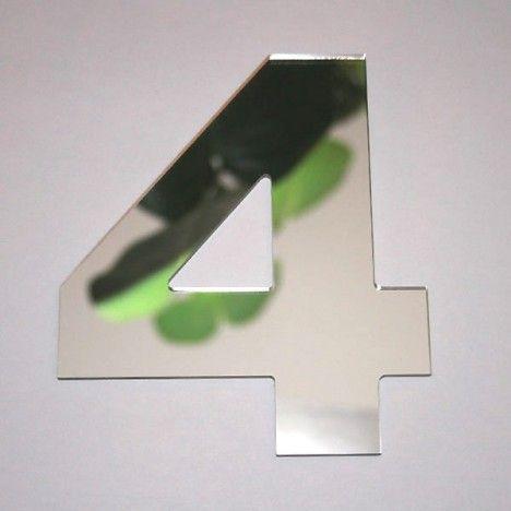 Miroir chiffre Arial 4 -