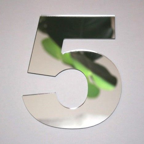 Miroir chiffre Arial 5 -