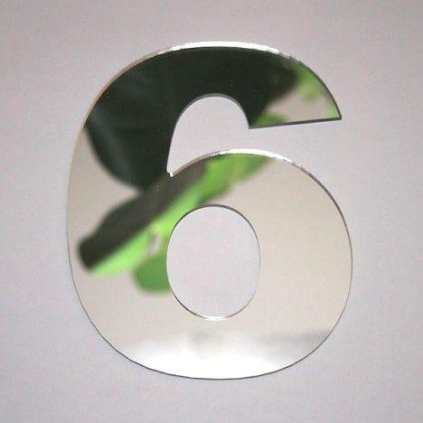 Miroir chiffre Arial 6 -
