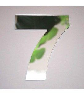 Miroir chiffre Arial 7 -