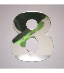 Miroir chiffre Arial 8