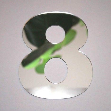 Miroir chiffre Arial 8 -