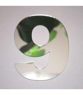 Miroir chiffre Arial 9