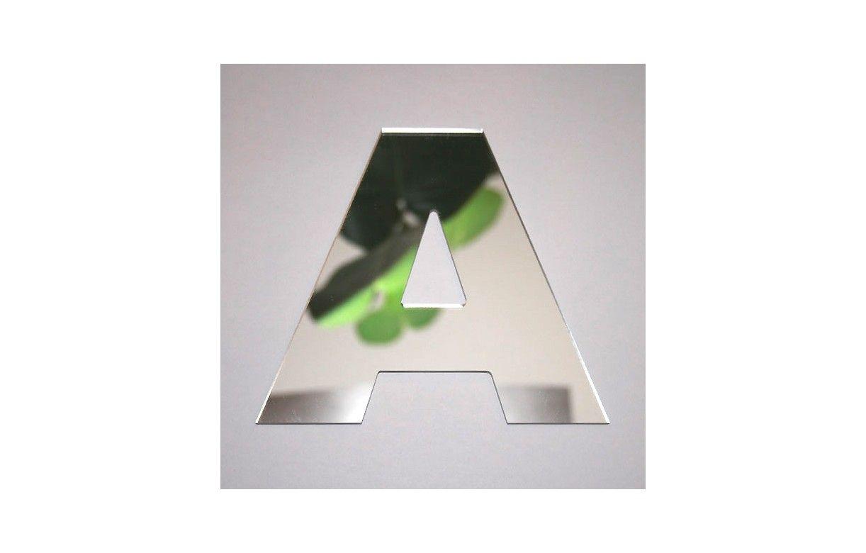 Miroir lettre arial a adh sif decome store for Miroir store