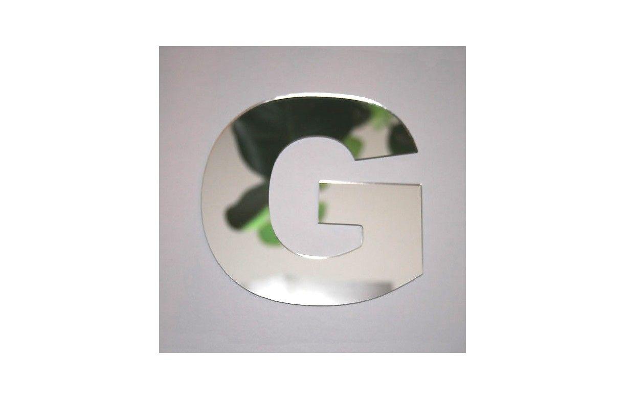 Miroir lettre arial g adh sif decome store for Miroir adhesif