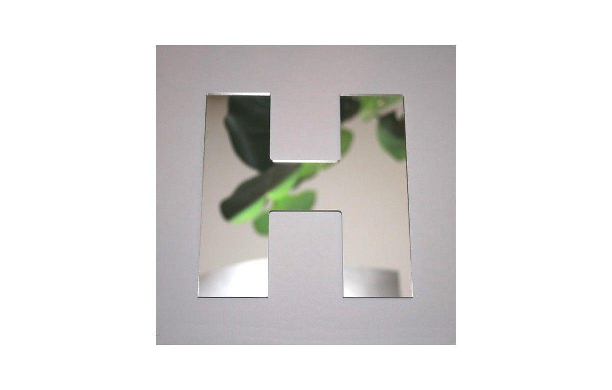 Miroir lettre arial h adh sif decome store for Miroir store