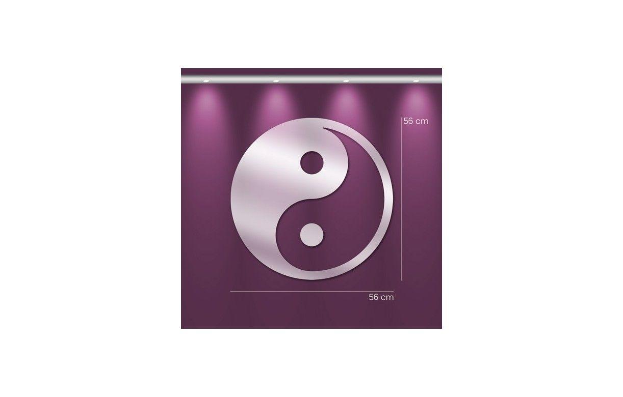 Miroir symbole chinois yin yang d co zen 3 dimensions for Meuble mural yin yang