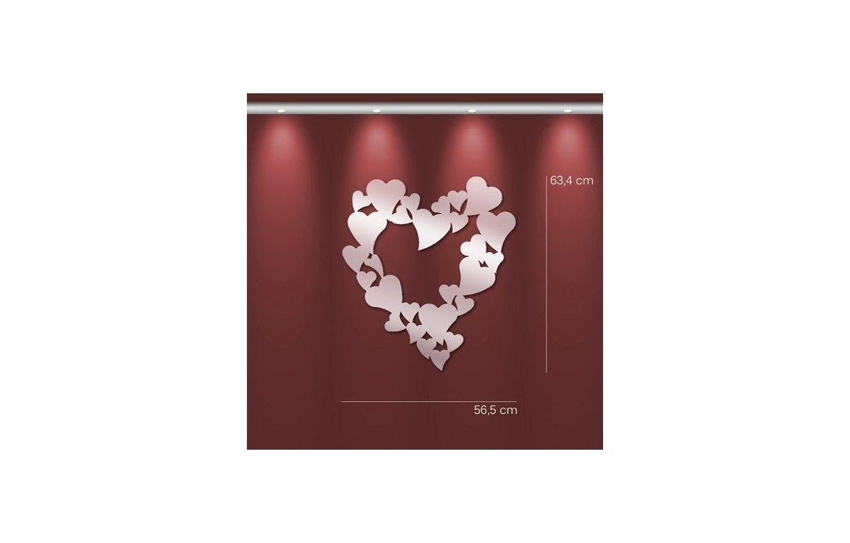 Miroir en forme de coeur design adh sif 2 dimensions for Forme miroir