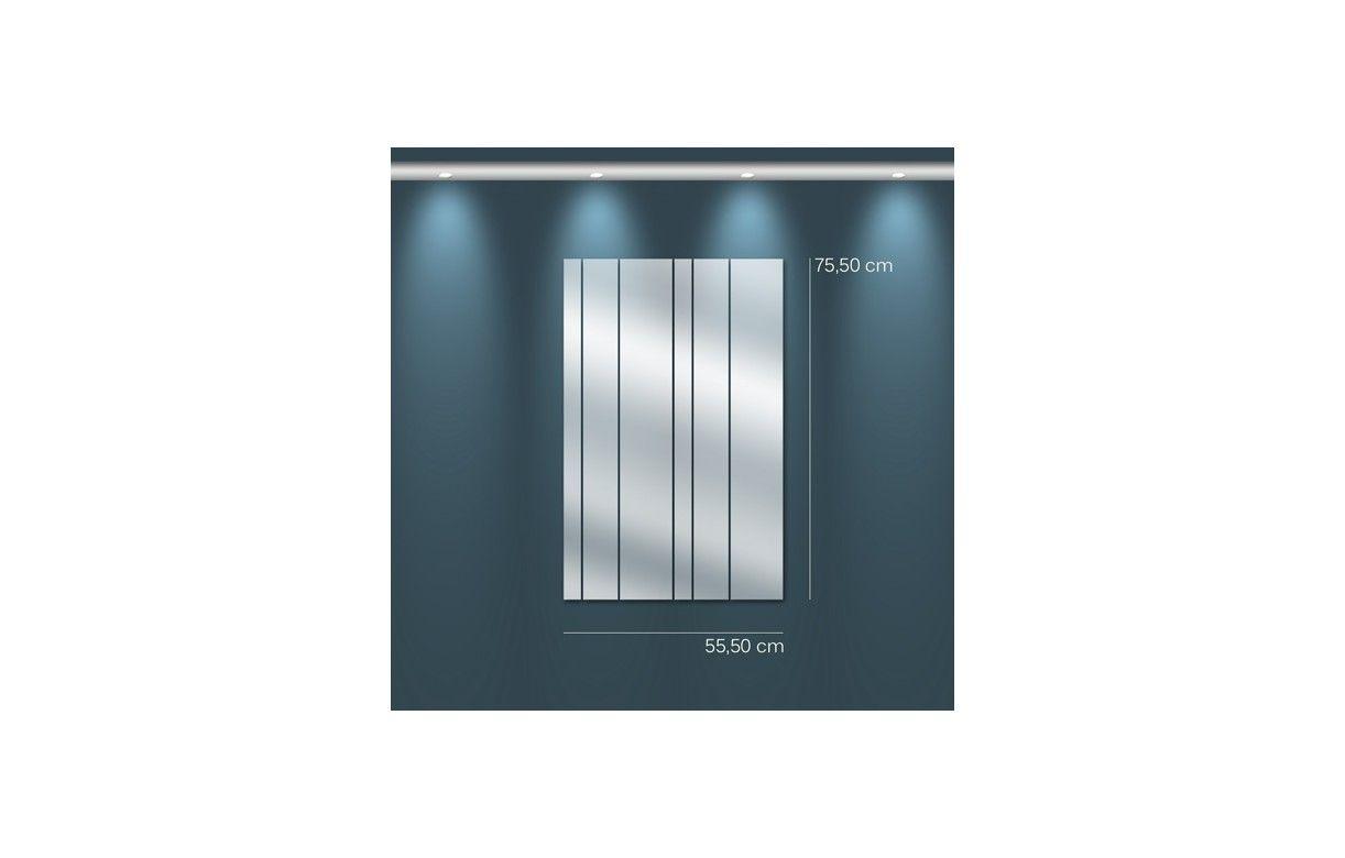 Miroir design adh sif lames droites 3 dimensions for Miroir adhesif