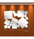 Miroir design carrés pele-mele - 2 dimensions -