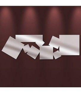 Miroir carrés multiples allongés design - 2 dimensions