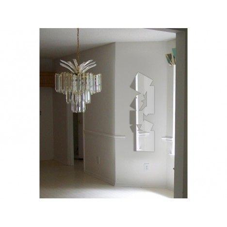 Miroir carrés multiples allongés design - 2 dimensions -