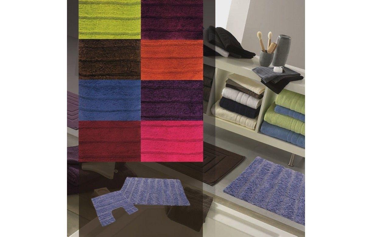 Ensemble tapis de salle de bain contour wc 9 coloris decome store - Ensemble tapis salle de bain et wc ...
