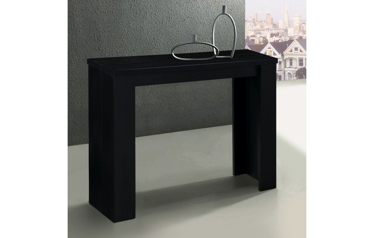 Table console extensible brooklina 8 coloris mat for Table salle a manger extensible wenge