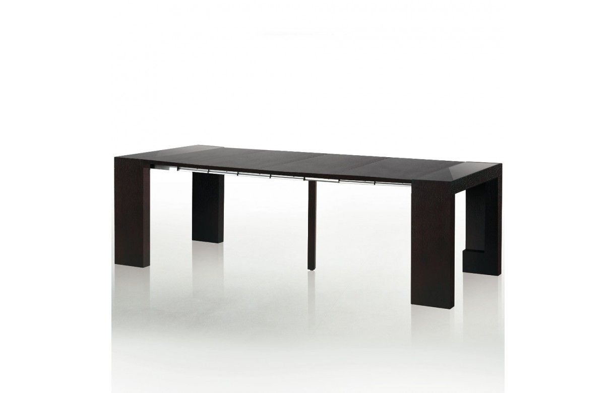 table console avec rallonge intgre elegant large images of table console extensible teck paris. Black Bedroom Furniture Sets. Home Design Ideas