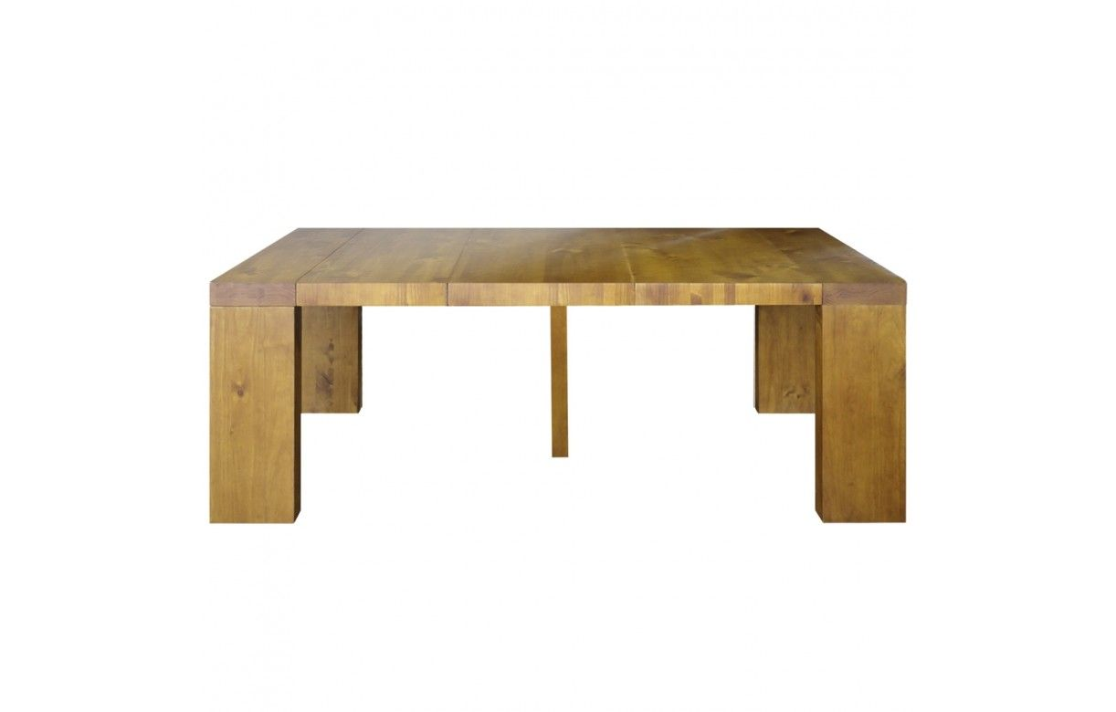En Extensible Couverts Table Bois 5 Console Massif 10 Woodini BErCxoQedW