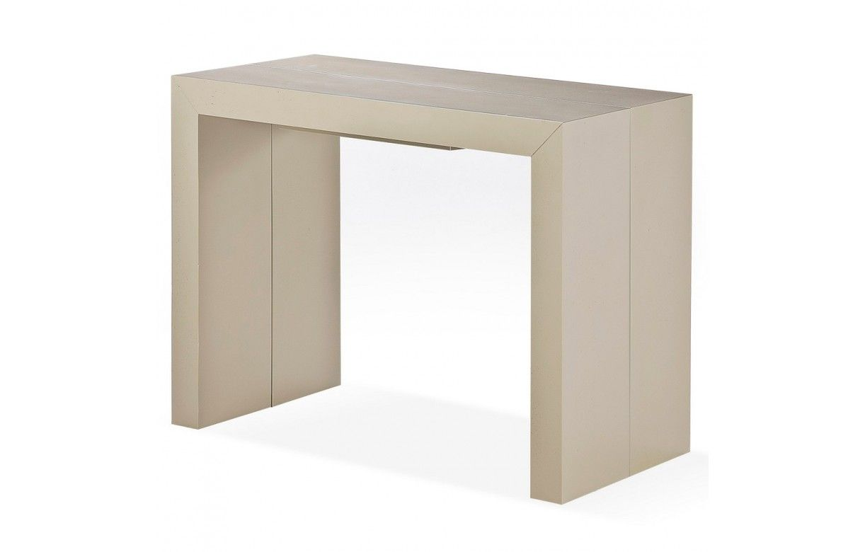 Table Console Extensible En Bois Massif 10 Couverts Woodini