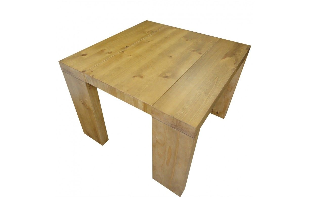 Table console extensible en bois massif 12 couverts for Table extensible 18 couverts