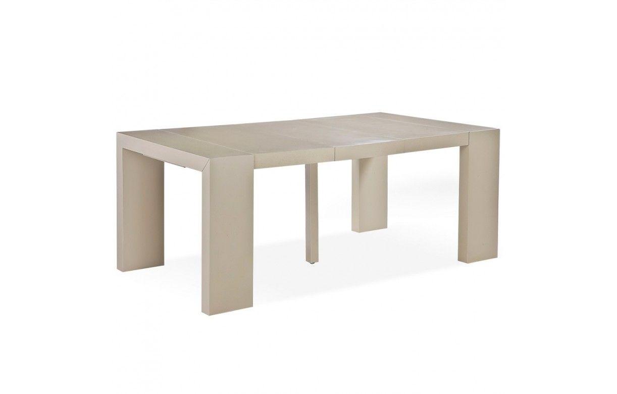 Table console extensible en bois massif 12 couverts for Table salle a manger extensible 12 couverts