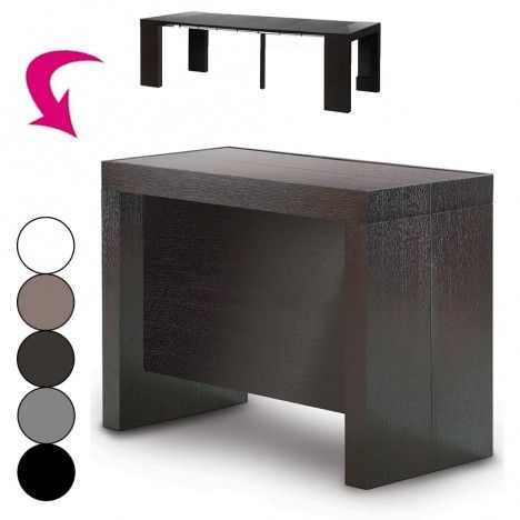 console extensible avec rallonges int gr es pandora 5 coloris decome store. Black Bedroom Furniture Sets. Home Design Ideas