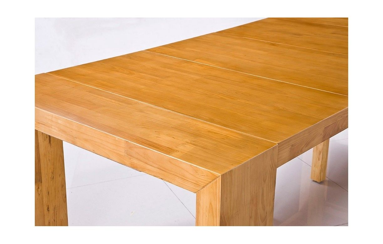Emejing console extensible chene clair ideas joshkrajcik for Table bois clair