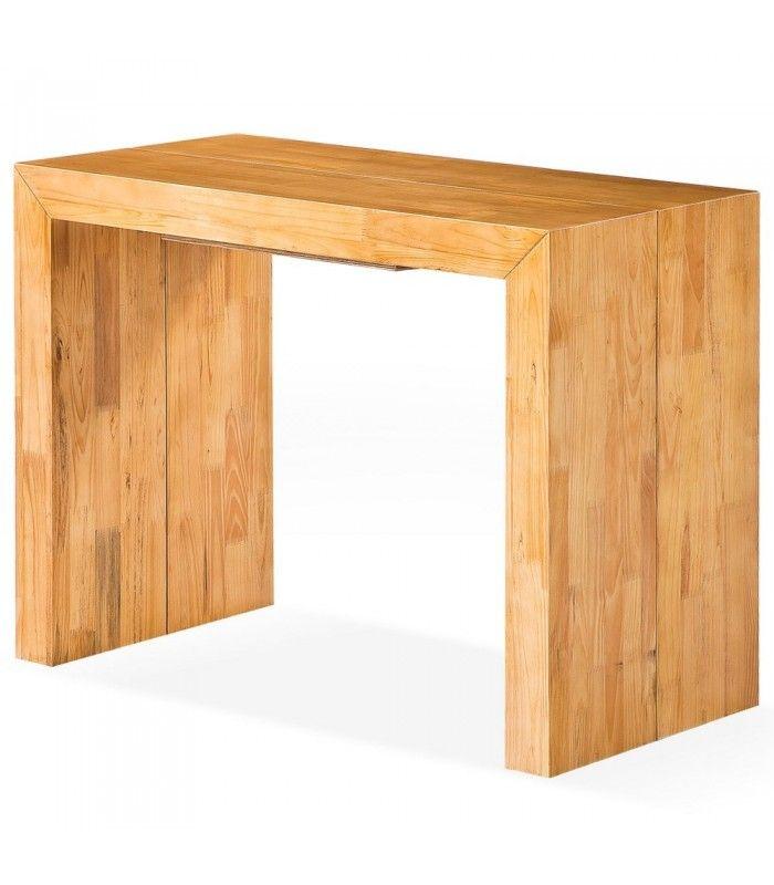 Table Console Extensible Bois.Table Console Extensible En Bois Massif 10 Couverts Woodini 5 Coloris