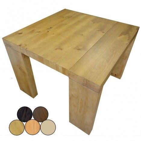 Table console extensible en bois massif 10 couverts Woodini 5 coloris -