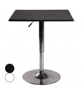 Table de bar plateau en simili cuir noir ou blanc réglable SLAM -