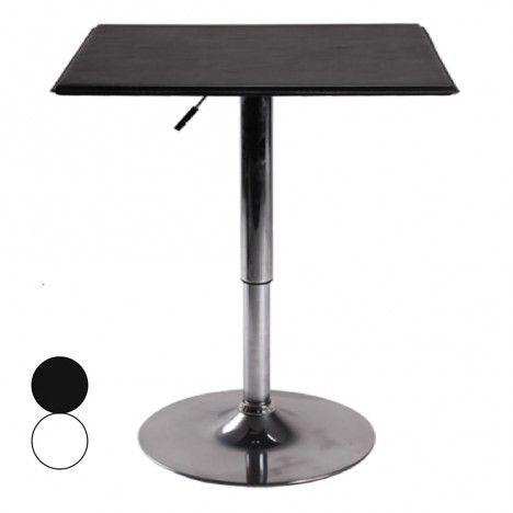 Table de bar plateau en simili cuir noir ou blanc réglable SLAM -