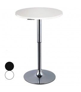 Table de bar réglable blanche ou noire Asiak -