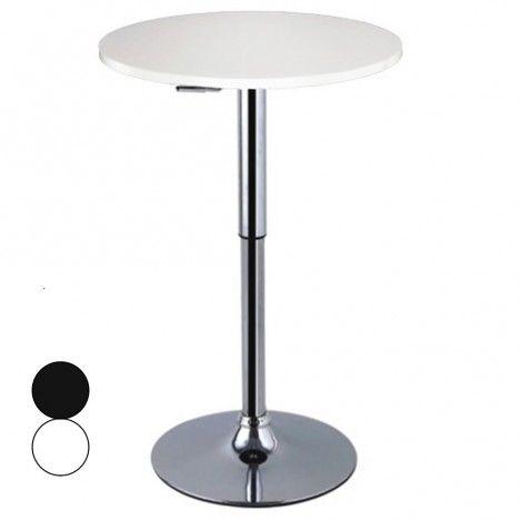 Table de bar réglable blanche ou noire Asiak -