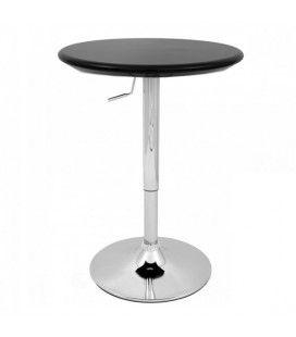 Table de bar réglable noire et chrome Europa