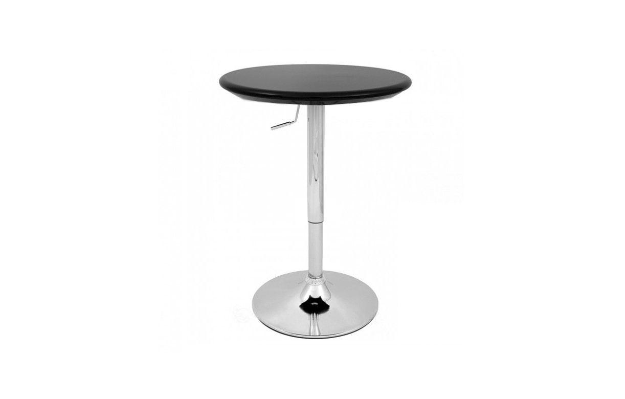 design de qualité e802f e1414 Table de bar réglable noire et chrome Europa